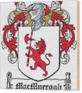 Macmurrogh Coat Of Arms Carlow Ireland Wood Print