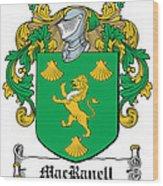 Macranell Coat Of Arms Leitrim Ireland Wood Print