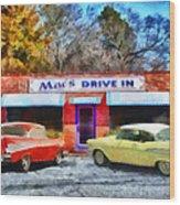 Mac's Drive In Wood Print