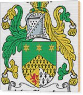 Macshanley Coat Of Arms Irish Wood Print
