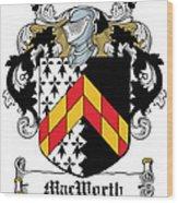 Macworth Coat Of Arms Irish Wood Print