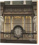 Macy's Clock Wood Print
