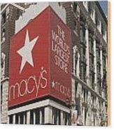 Macy's Department Store Wood Print