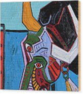 Mad Cow 24x18 Wood Print