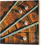 Mad For Mahjong Wood Print
