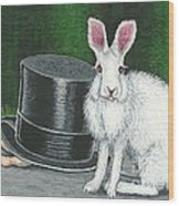 Mad March Hare -- Now You See How It Feels Wood Print by Sherry Goeben