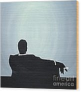 Mad Men In Silhouette #2 Wood Print
