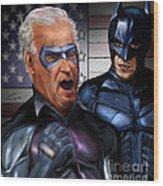 Mad Men Series 3 Of 6 - Obama And Biden Wood Print by Reggie Duffie