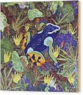 Madagascar Mantella Wood Print by Lynda K Boardman