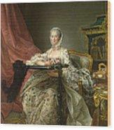 Madame De Pompadour At Her Tambour Frame Wood Print