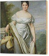 Madame Tallien 1773-1835 Oil On Canvas Wood Print