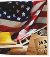 Made In Usa Wood Print