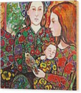 Madeline and the Baby Wood Print