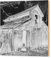 Madeline S Barn - Black And White Wood Print