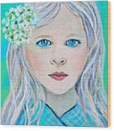 Madelyn Little Angel Of Clear Vision Wood Print