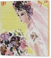 Mademoiselle Cover Featuring A Bride Wood Print
