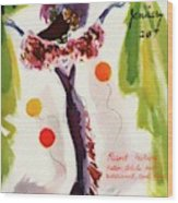 Mademoiselle Cover Featuring A Model Wearing Wood Print