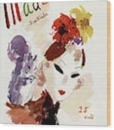 Mademoiselle Cover Featuring A Woman Wood Print