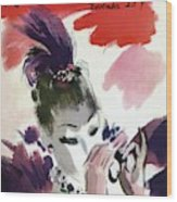 Mademoiselle Cover Featuring A Woman Looking Wood Print