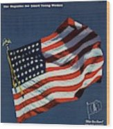 Mademoiselle Cover Featuring The U.s. Flag Wood Print