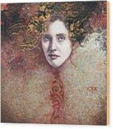 Mademoiselle Du Carnaval Wood Print
