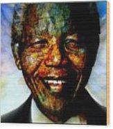 Madiba Father Of Peace And Forgiveness Wood Print