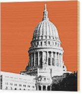 Madison Capital Building - Coral Wood Print