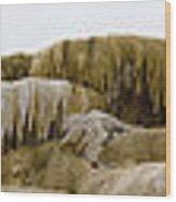 Madison Formation Panorama  16x123 Wood Print