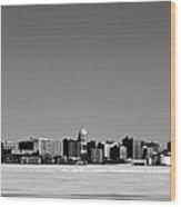 Madison Skyline Wood Print
