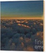 Madison Wi Sunset At 30000 Wood Print