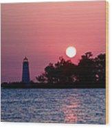Madisonville Lighthouse Wood Print