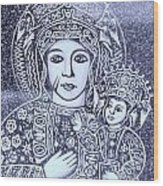 Madonna And Child 2 Wood Print