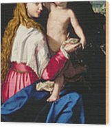 Madonna And Child Wood Print by Alessandro Allori