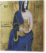 Madonna And Child Wood Print by Eve Riser Roberts