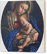 Madonna And Child Wood Print by Jane Whiting Chrzanoska