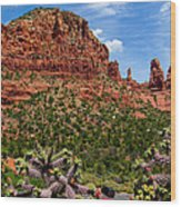 Madonna And Child Two Nuns Rock Formations Sedona Arizona Wood Print