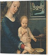 Madonna And Child With The Milk Soup Wood Print