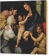 Madonna Dell'impannata Wood Print by Raphael