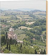 Madonna Di San Biagio Tuscany Wood Print