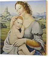 Madonna Of The Fields Wood Print