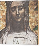 Madonna Praying Wood Print