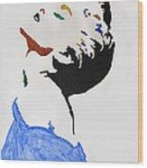 Madonna True Blue Wood Print by Stormm Bradshaw