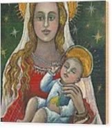 Madonna With Baby Jesus Wood Print