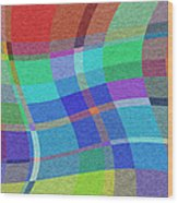 Madras Twist Wood Print