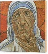 Madre Teresa Di Calcutta Wood Print