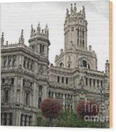 Madrid City Hall Wood Print