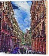 Madrid Life Wood Print