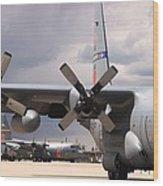 Maffs C-130s At Cheyenne Wood Print