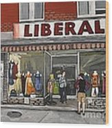 Magasin Liberal Notre Dame  Wood Print by Reb Frost