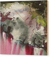 Magenta Cliffs Wood Print by Carole Johnson